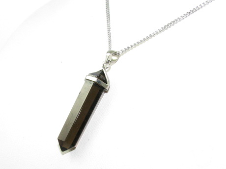 Crystal Point Pendant Double Terminated - Smoky Quartz (L)