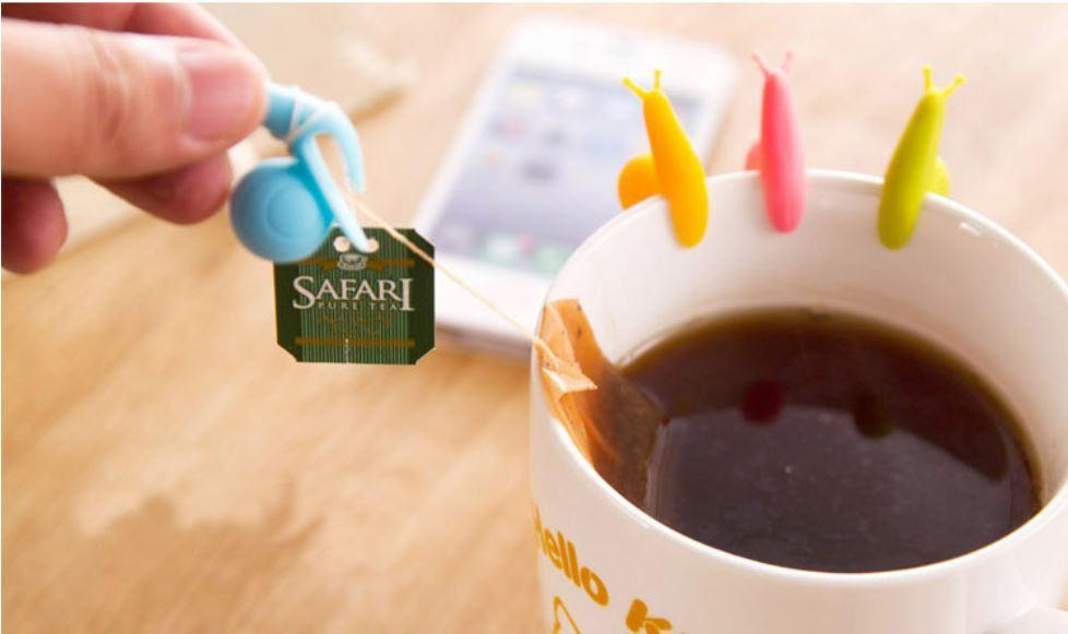 Very Cute & Attractive Snail Shape Tea Bag Holder (5pcs-RANDOM COLOR)