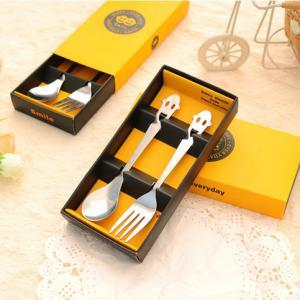 Cute Cartoon Face Portable Cutlery 2 pcs