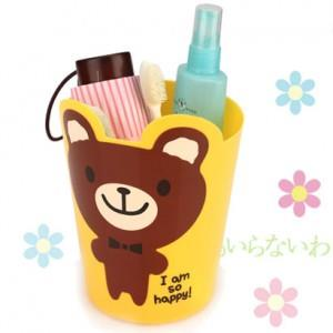 Cute Cartoon Mini Debris Bucket 13800-Yellow Bear