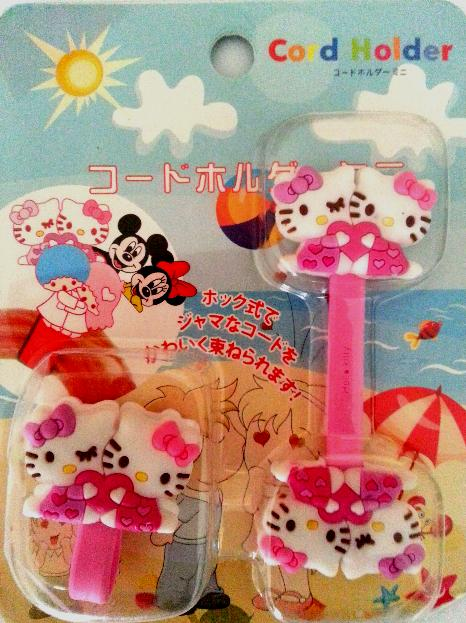 Cute Cord Holder Hello Kitty Twins