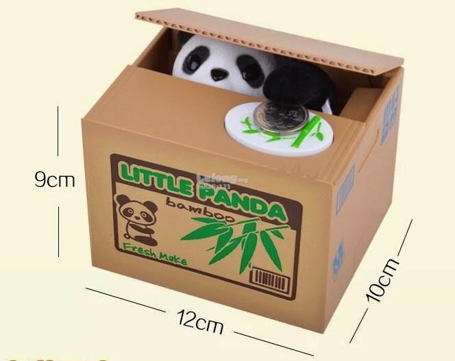 Cute Panda Coin Saving Box