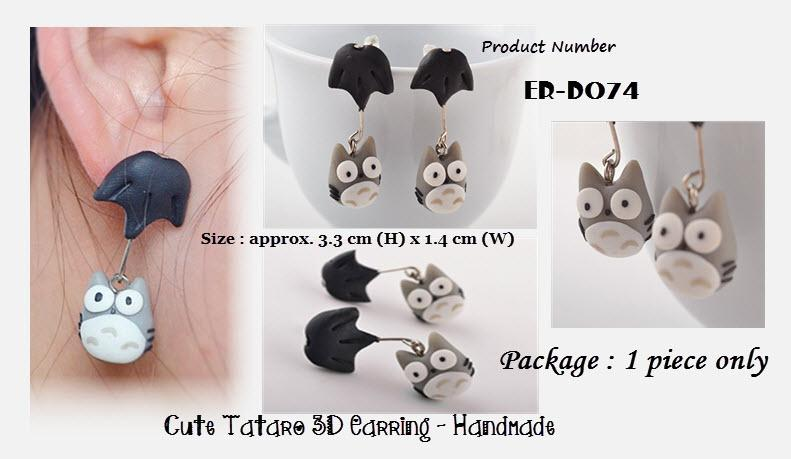 Cute Tatoro 3D Drop Earring - Handmade