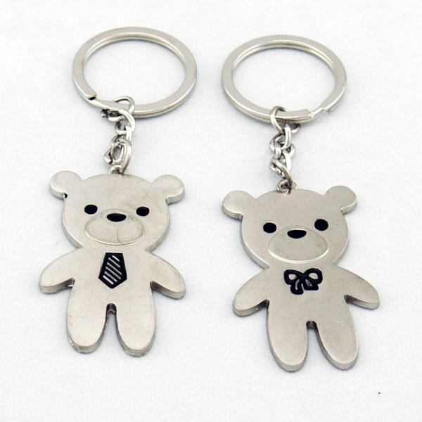 Cute Teddy Bears Lover Couple Key Chain Keychain K40