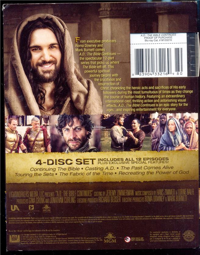 A.D. The Bible Continues - New Blu-Ray