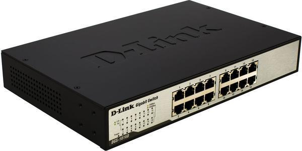 D-LINK 16-Port Fast Ethernet Unmanaged Desktop Switch DES-1016D