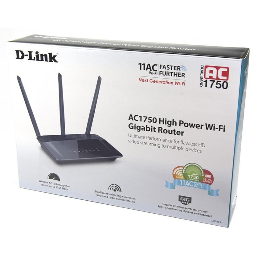 D-Link AC1750 Dual Band Wireless Wi-Fi Router DIR-859