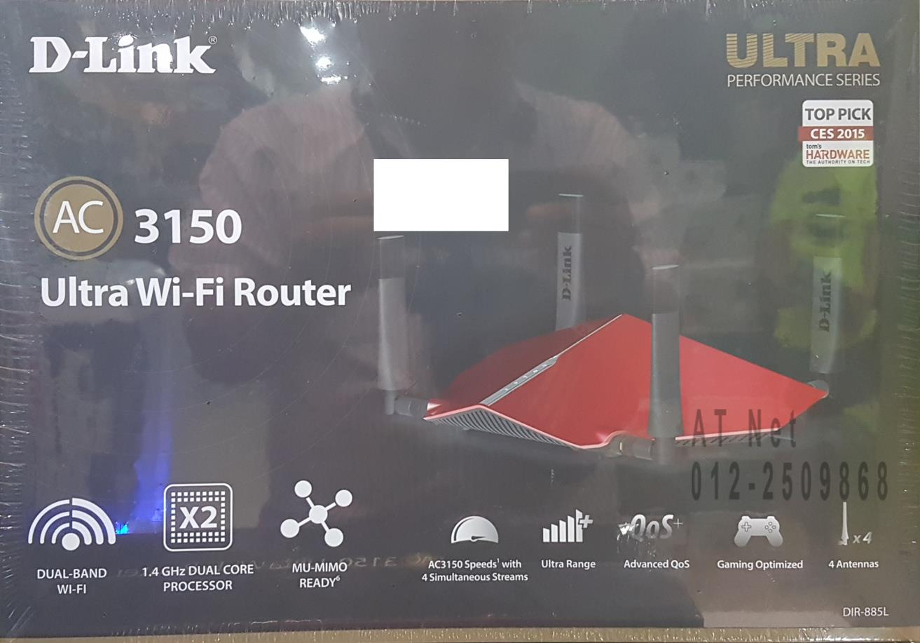 D-LINK ULTRA WIFI AC3150 N1000 2 BAND CLOUD GIGABIT ROUTER (DIR-885L)