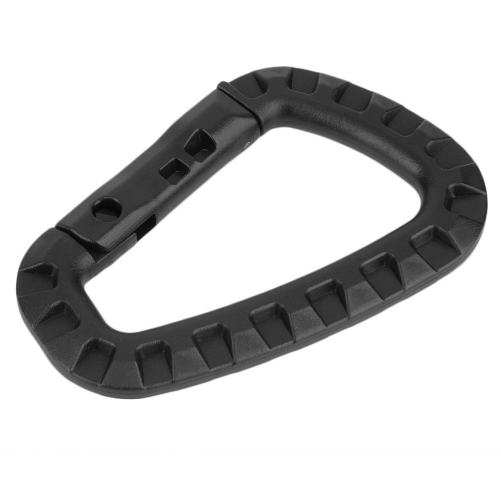D Shape 200LB Mountaineering Buckle Snap Clip Plastic Steel Climbing H..