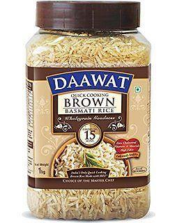 Daawat Brown Basmati Rice, 1kg, Jar