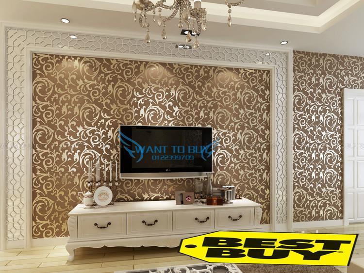 Damask Brown Diy Decorative Wallpaper Hot Selling Promotion