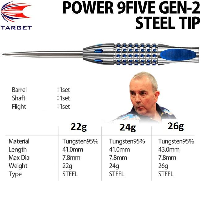 Dart - Target - Phil Taylor - 9Five Quattro UK - 26G