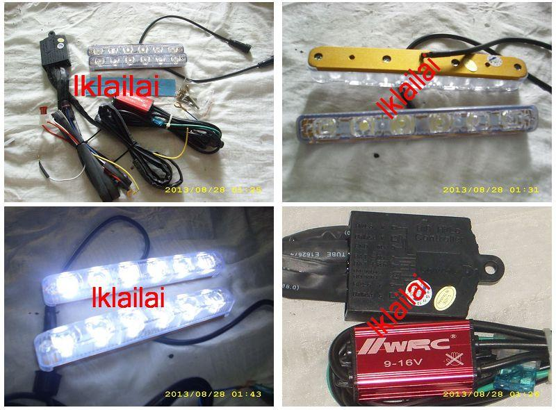 Day Running Light DRL With Signal Function With Relay & Wiring Univers