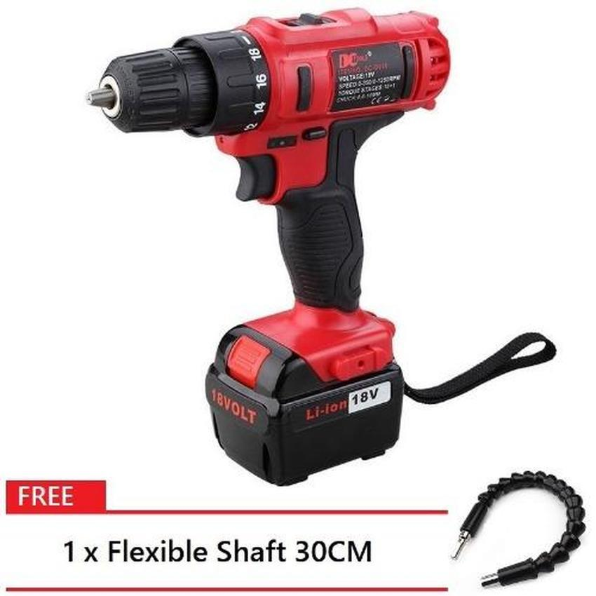 DCTOOLS 18V Electric Power Tool Drill DC-D017 FREE 30CM Flexible Shaft