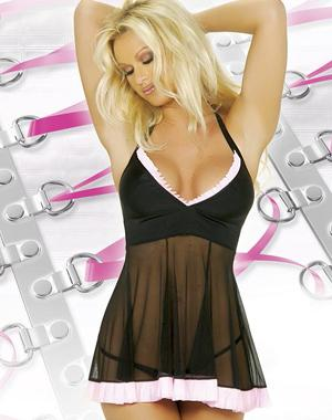 Deep V Halter Type Sexy Short Sexysuit + panties