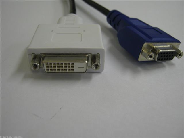 Dell  DVI-I to DVI-D+VGA Dual Monitor Spliter Y-Cable Adapter 0X2026