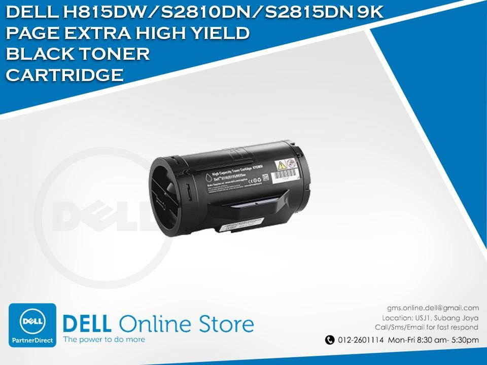 Dell H815DW/S2810DN/S2815DN 9K Page EHY Black Toner Cartridge