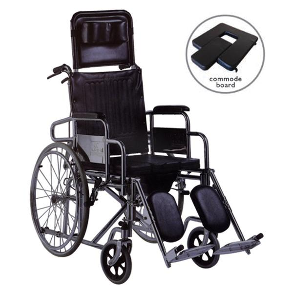 Deluxe Commode Reclining Wheelchair WC607