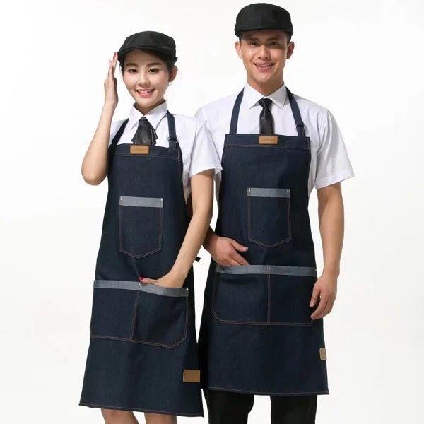 Denim Jeans Apron for Hair Stylists, Barbers & Cafes.