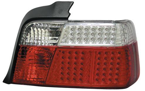 DEPO BMW E36 '91-97 4D Tail Lamp Crystal LED Clear/ Red (BM01-RL05-U)