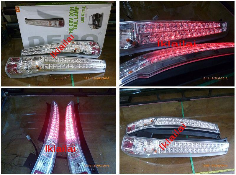 DEPO Honda CRV '03-06 LED Tail Lamp Chrome Housing
