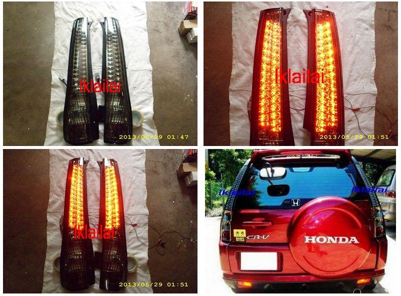 DEPO Honda CRV '03-06 Tail Lamp Crystal LED Smoke [HD21-RL02-U]