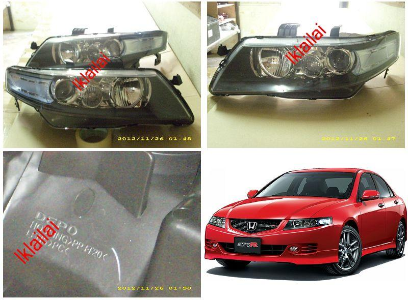 DEPO Hoonda Accord '06-07 Euro Type Projector Head Lamp Hybrid Look