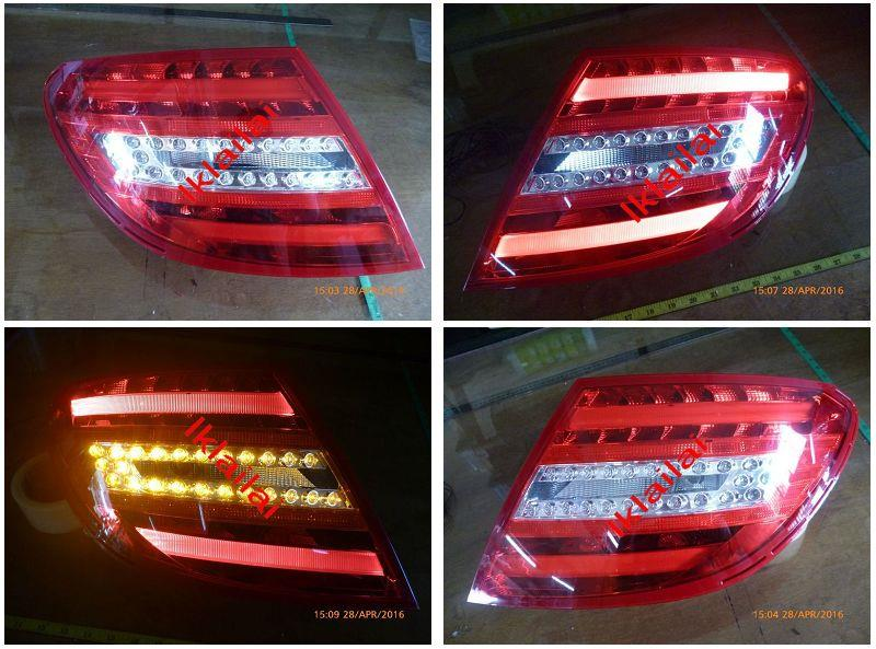 DEPO Mercedes Benz C-Class W204 `07 Tail Lamp Crystal LED+Light Bar