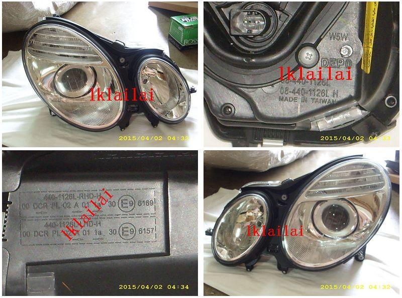 DEPO Mercedes Benz W211 '03 Projector Head Lamp with Motor HID D2S