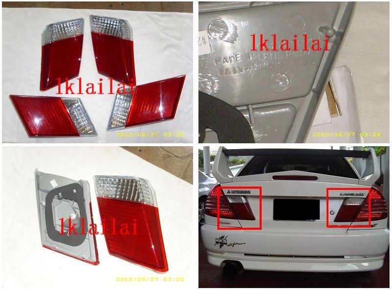 DEPO Mitsubishi Lancer EVO '95 Crystal Bonnet Lamp [Red-Clear]