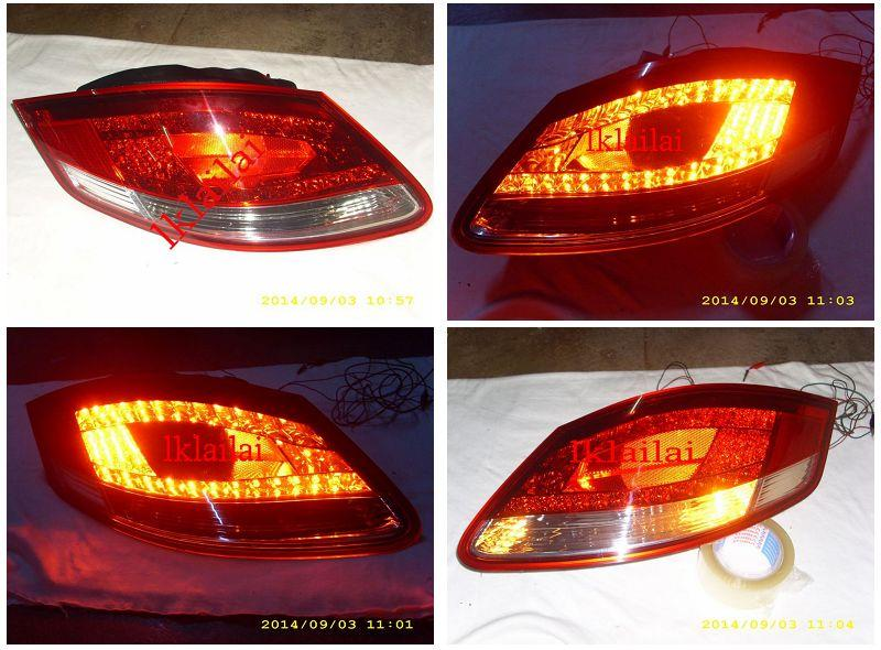 DEPO Porsche 911/987 Cayman/Boxster '05-12 LED Tail Lamp Red/Clear