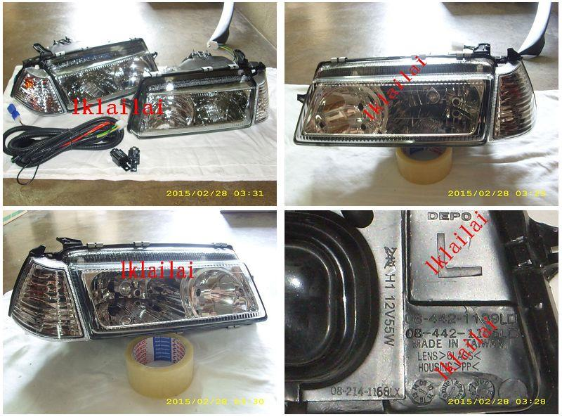 DEPO Proton Iswara `92-`07 Head Lamp Crystal Glass Lens + Corner Lamp