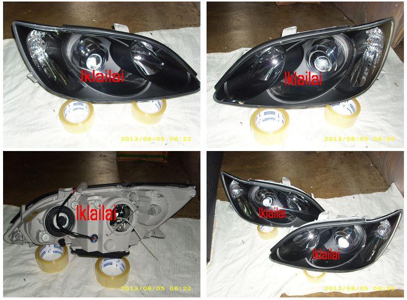 DEPO Toyota Camry '04-05 Projector Head Lamp Black Housing