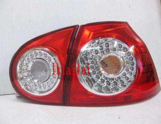 DEPO Volkswagen `03-05 V Golf LED Tail Lamp Crystal [Red]