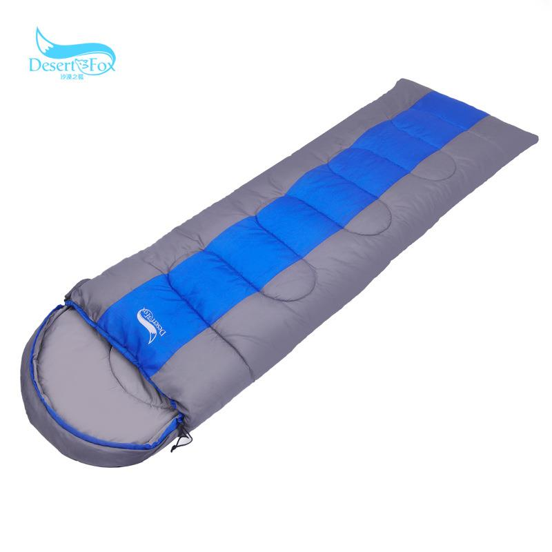 DesertFox Sleeping Bag Envelope Type for Camping, Standard - Blue