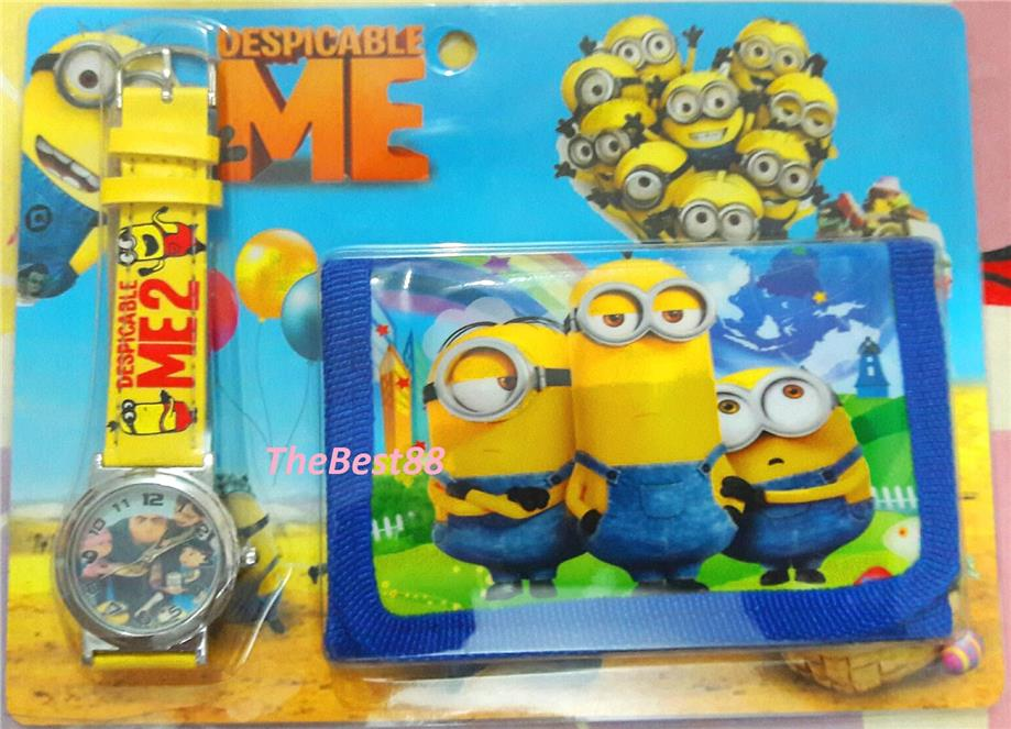 DESPICABLE ME Kids Ladies Watch and Wallet Set Lovely Gift WW881DM03