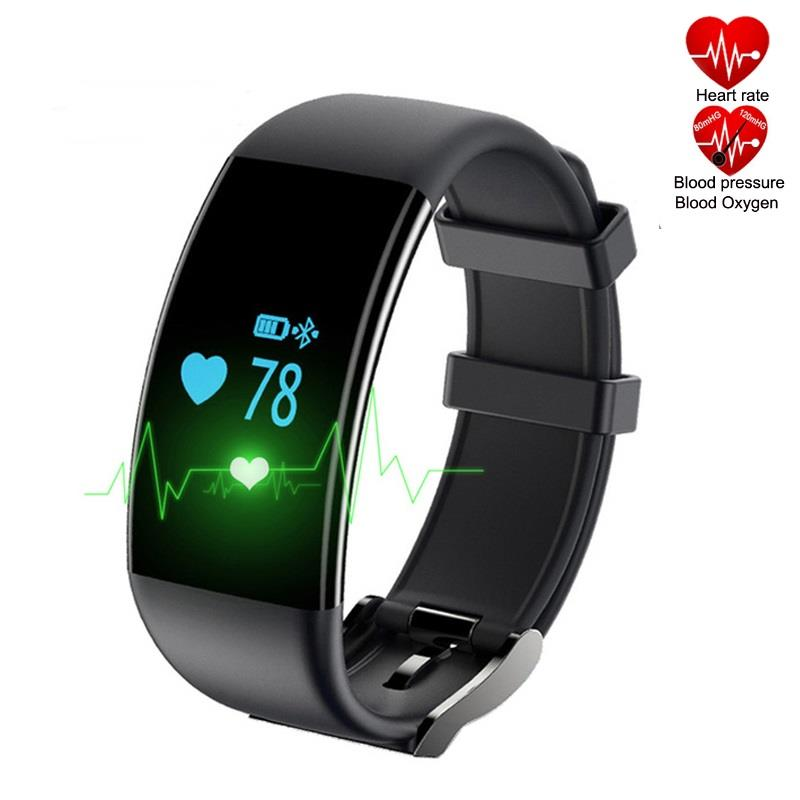 DF30 Heart Rate Blood Pressure Monitor Bluetooth Smartband (Black)