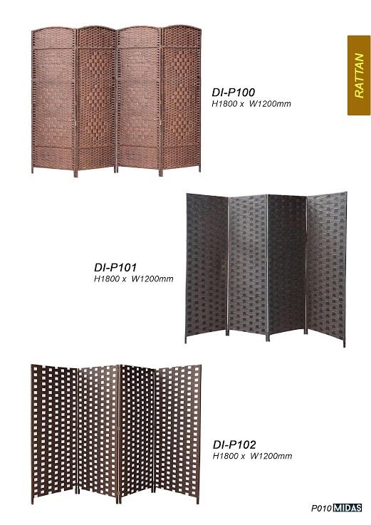 DI-P102 FOLDABLE WALL HOTEL ROOM SEPARATE SPACE ROTAN DIVIDER DIVIDE