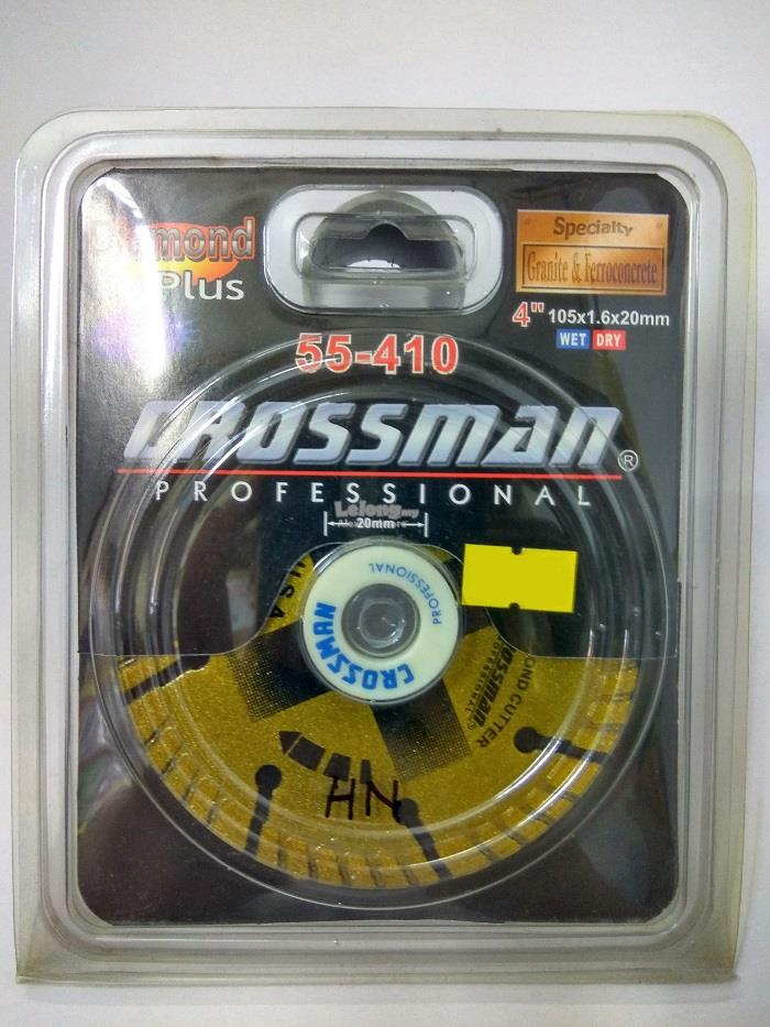 "DIAMOND DISC ""CROSSMAN"" 4""/105x1.6x20mm"
