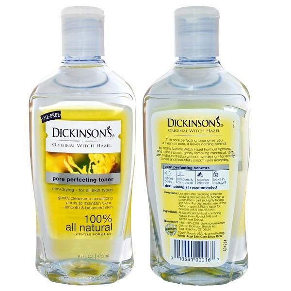 Dickinson Brands, Original Witch Hazel, Pore Perfecting Toner (473ml)
