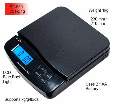 Digital 25kg /1g acuracy Portable Measuring Scale for Parcels