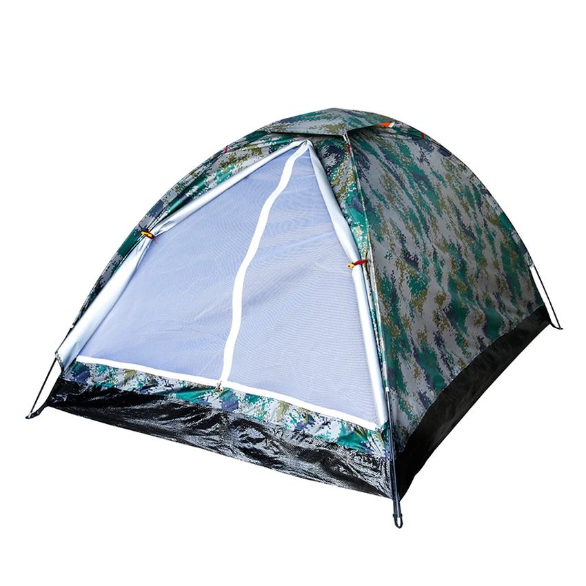 Digital Camouflage Print 2 Person Camping Tent With Carry Bag (Green)