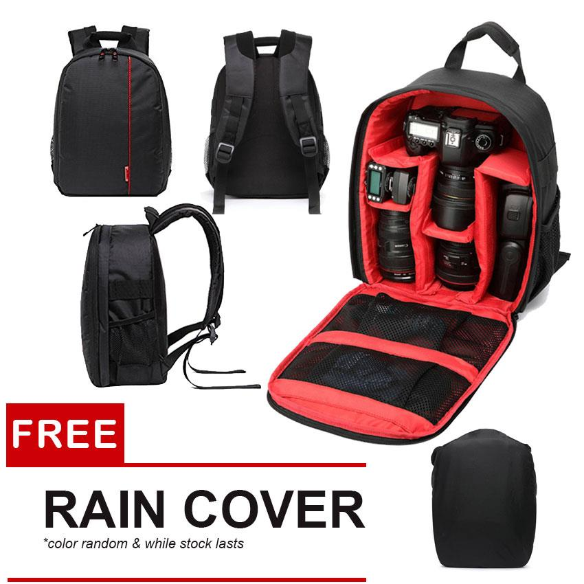 Digital DSLR Camera Video Bag Waterproof Shockproof Photo Backpack