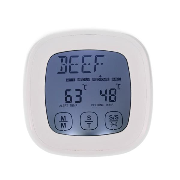 Digital Touch Screen Backlight Meat Cooking Thermometer