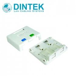 DINTEK 2Port Surface Mount Box with Spring Shutter, 1301- 02013