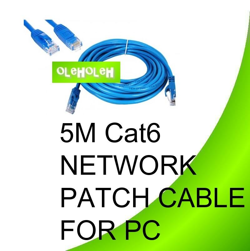 Dintek 5m Cat6 High Quality Network Patch Cable PC To Hub Gigabit