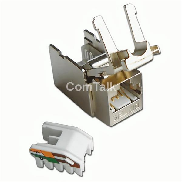 Dintek Cat.6A Horizontal Type Fully Shielded Toolless Keystone Jack