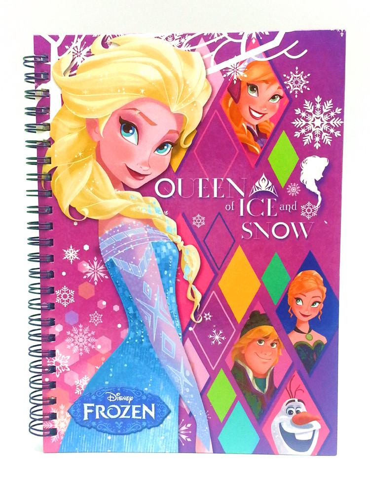 DISNEY FROZEN A5 100'S HARD COVER NOTE BOOK - Genuine Licensed