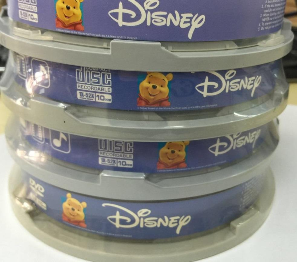 DISNEY MICKEY & WINNIE CD 700MB 52X 10PCS (M004)
