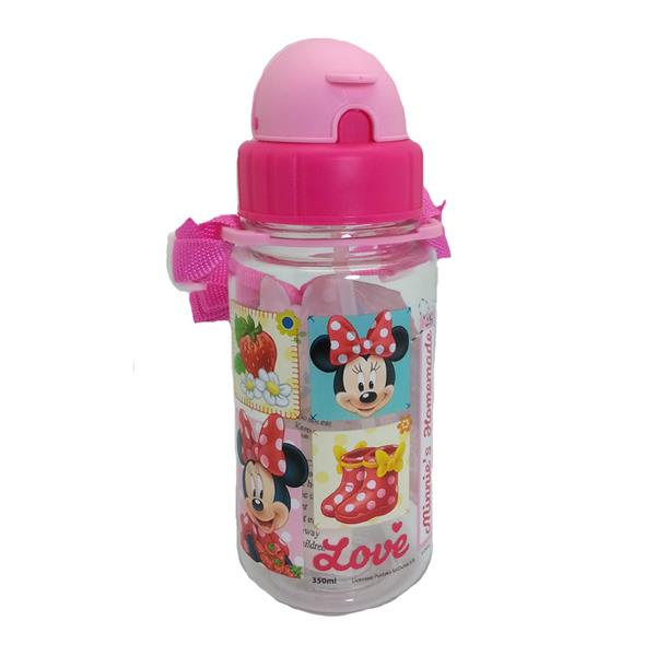 DISNEY MINNIE MOUSE STRAWBERRY 350ML TRITAN BOTTLE WITH STRAW * BPA FR